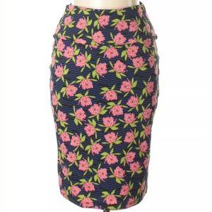 LuLaRoe Floral Cassie Pencil Skirt Medium SZ 10-12